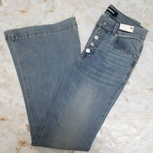 Express Bell Flare High Rise Stretch Jeans NWT